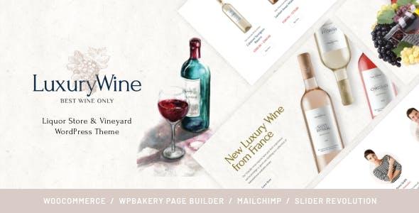 Luxury Wine | Liquor Store & Vineyard WordPress Theme + Shop