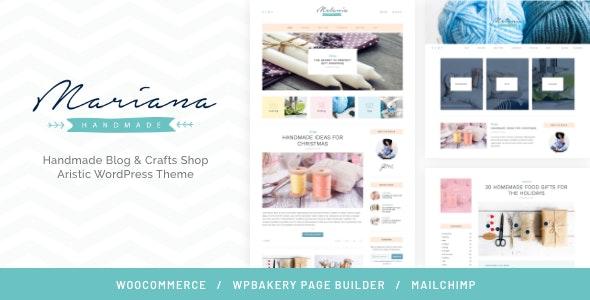 Melania | Handmade Blog & Crafts Shop Aristic WordPress Theme - Personal Blog / Magazine