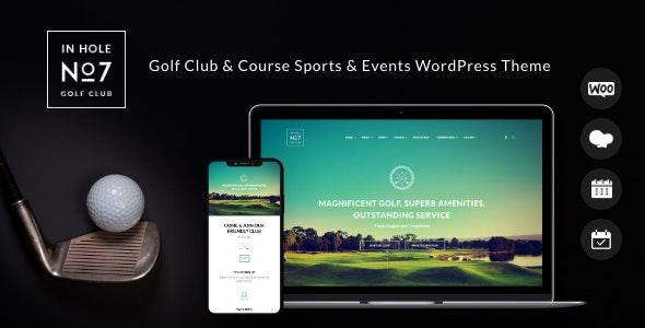 N7 | Golf Club & Course Sports & Events WordPress Theme - Entertainment WordPress