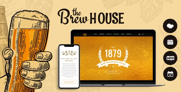 BrewHouse | Brewery / Pub / Restaurant WordPress Theme - Restaurants & Cafes Entertainment