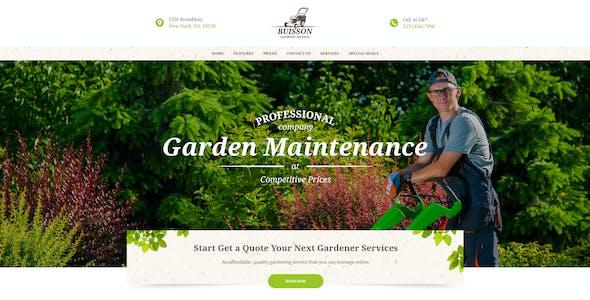 Buisson | Gardening & Landscaping Services WordPress Theme