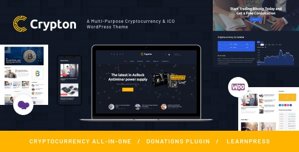 Crypton | A Multi-Purpose Cryptocurrency & ICO WordPress Theme by ThemeREX
