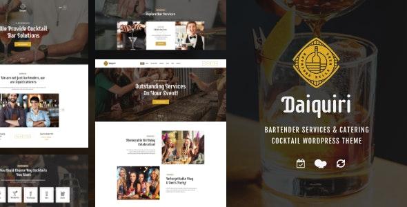 Daiquiri | Bartender Services & Catering Cocktail WordPress Theme - Restaurants & Cafes Entertainment