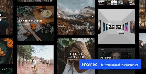 Framed | Photography WordPress - Photography Creative