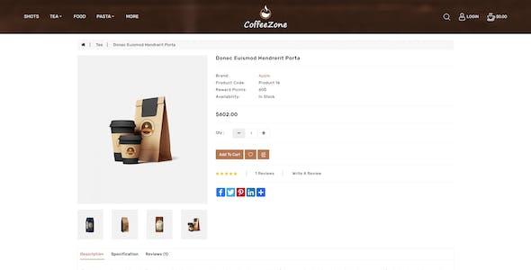 CoffeeZone - Cafe & Coffee OpenCart Shop