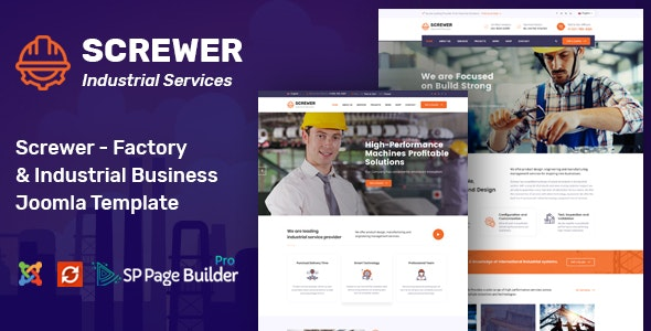 Screwer - Factory and Industrial Joomla Template - Business Corporate