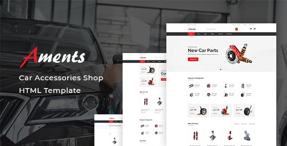 Aments - Car Accessories Shop HTML Template