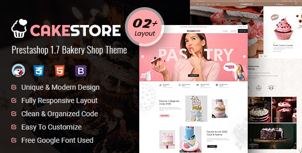 Cakestore - Responsive Prestashop 1.7 Bakery Theme - PrestaShop eCommerce