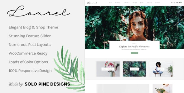 Laurel - A WordPress Blog & Shop Theme - Personal Blog / Magazine