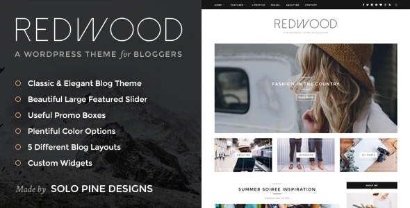 Redwood - A Responsive WordPress Blog Theme - Personal Blog / Magazine