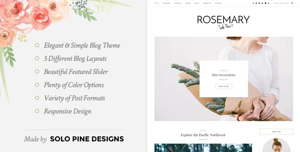 Rosemary - A Responsive WordPress Blog Theme - Personal Blog / Magazine