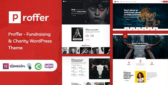 Proffer - Fundraising & Charity WordPress Theme