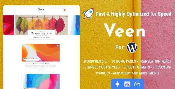 Veen - Minimal & Lightweight Blog for WordPress