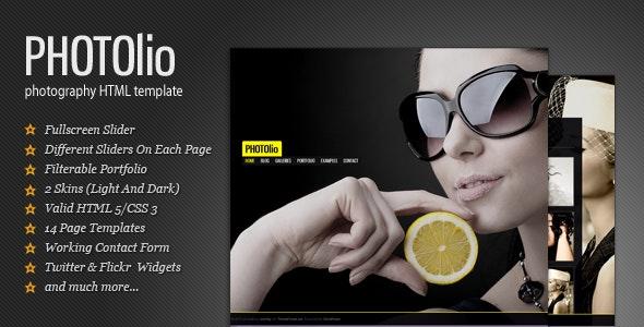 Photolio - Portfolio Template for Photographers - Photography Creative