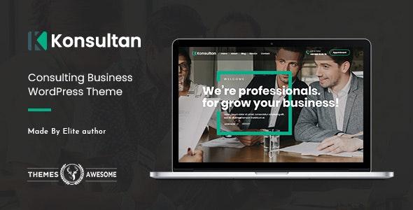 Konsultan | Consulting Business WordPress Theme - Business Corporate