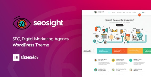 Seosight - Digital Marketing Agency WordPress Theme - Marketing Corporate