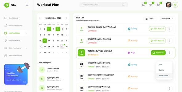 Fito - Fitness Laravel Admin Dashboard
