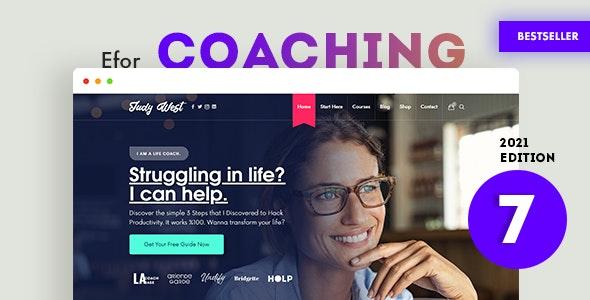 Efor - Coaching & Online Courses WordPress Theme - Education WordPress