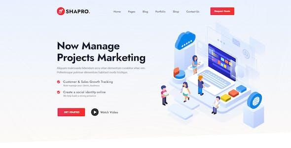 Shapro - Multipurpose Landing Page Design XD Templates