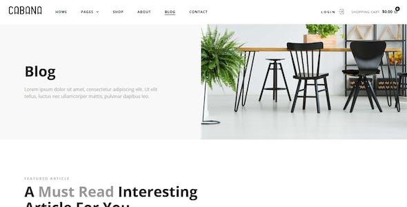 Cabana — Furniture WooCommerce Template Kit