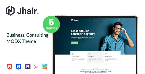 Jhair - Business, Consulting MODX Theme - MODX Themes CMS Themes