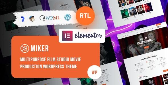 Miker - Movie and Film Studio WordPress Theme - Film & TV Entertainment