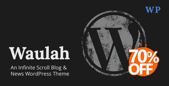 Waulah - Infinite Scroll News & Blog WordPress Theme