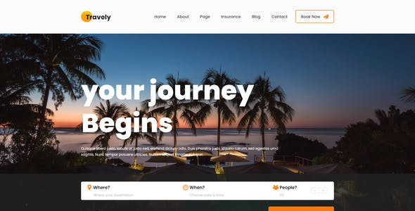 Travely - Tours & Travel Booking Template