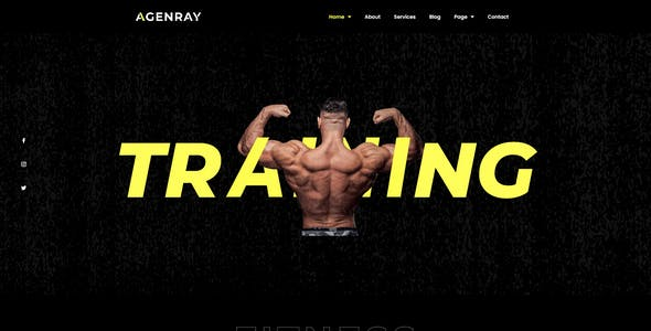 Agenray | Gym Elementor Template Kit
