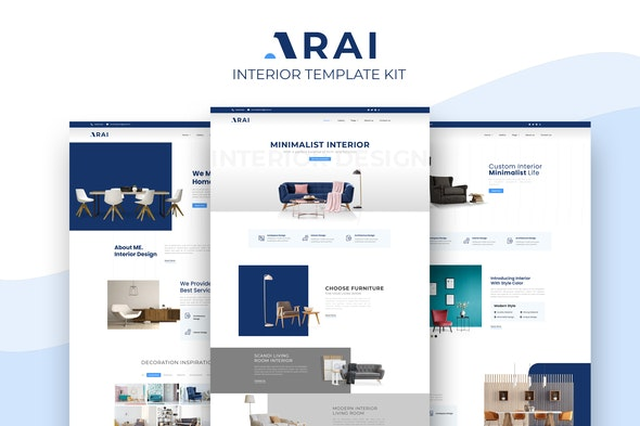 Arai | Interior & Furniture Elementor Template kit - Shopping & eCommerce Elementor