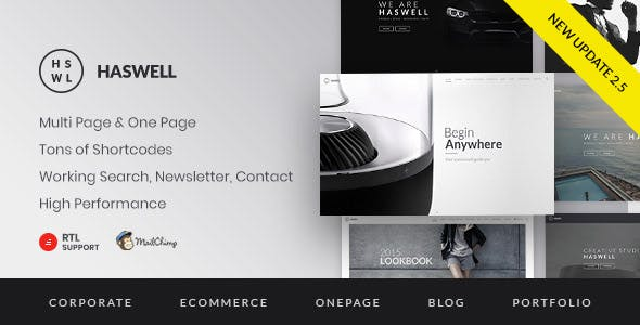 Haswell - Multipurpose One & Multi Page Template
