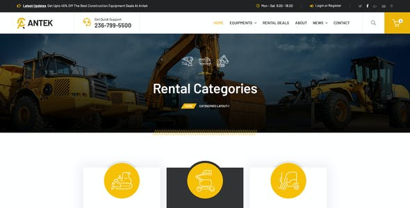 Antek - Construction Equipment Rental FIGMA