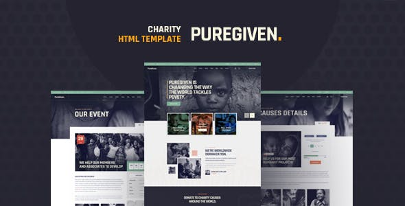 Puregiven - Nonprofit HTML Template