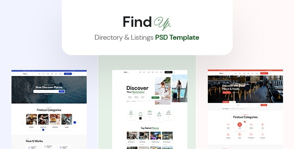 Findup - Directory & Listing PSD Template - Business Corporate