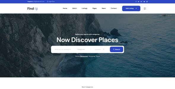 Findup - Directory & Listing PSD Template