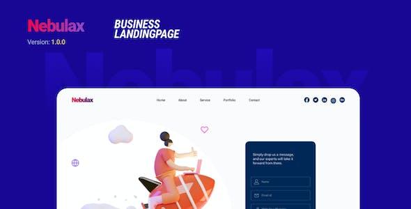 Nebulax   A Business Landing Page   Figma Template
