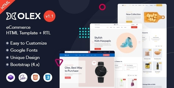 Olex - eCommerce HTML Template - Shopping Retail