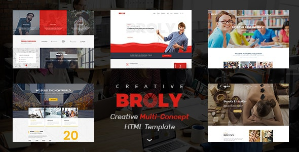 Broly - Creative Multi-Concept HTML Template - Portfolio Creative