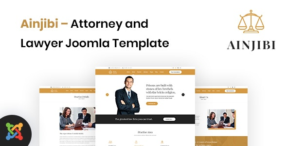 Ainjibi v1.0 – Attorney and Lawyer Joomla Template