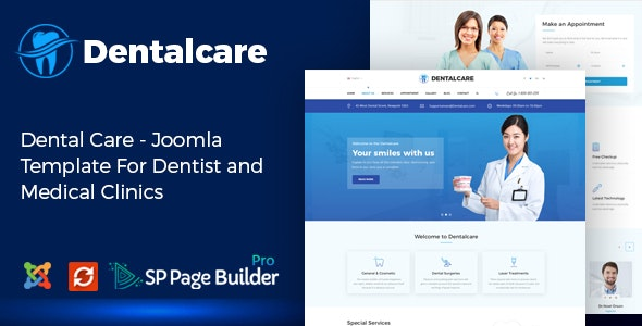 Dental Care - Joomla Template For Dentist and Medical Clinics - Health & Beauty Retail