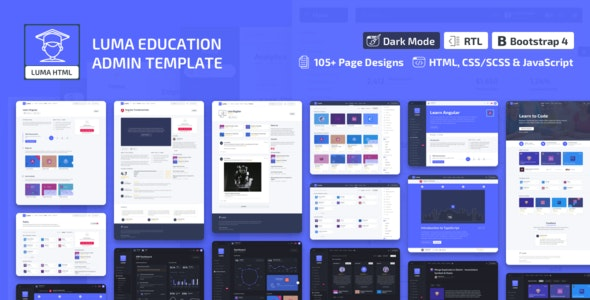 Luma - Education HTML Learning Management System Admin Template - Admin Templates Site Templates