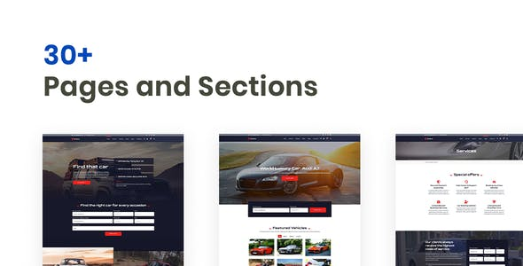 Rotors – Car Rental Elementor Template Kit