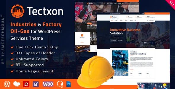 Tectxon - Industry & Factory WordPress Theme