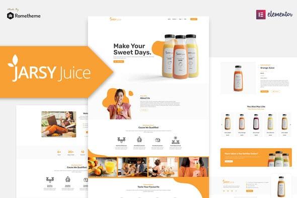 Jarsy Juice - Drink Brand Elementor Template Kit - Food & Drink Elementor