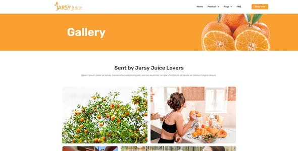 Jarsy Juice - Drink Brand Elementor Template Kit