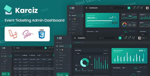 Karciz - Event Ticketing Laravel Admin Dashboard + Bootstrap Files + PSD Files - Admin Templates Site Templates