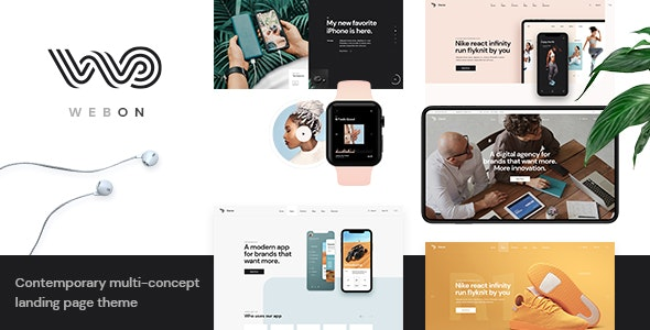 WebOn - Landing Page WordPress Theme