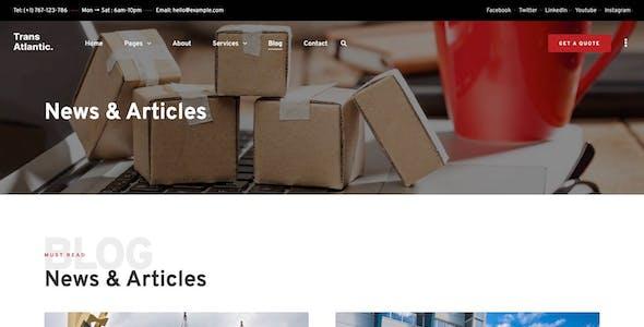 Trans Atlantic – Transportation & Logistics Elementor Template Kit