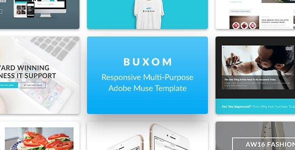 Buxom - Responsive Multi-Purpose Muse Template - Creative Muse Templates