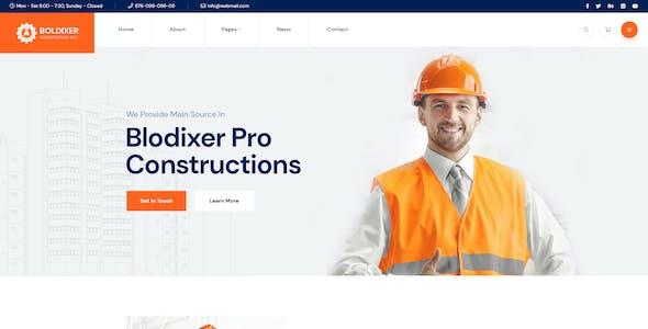 Boldixer - Construction Adobe XD Template